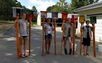Girl Scouts Install Sensory Stations