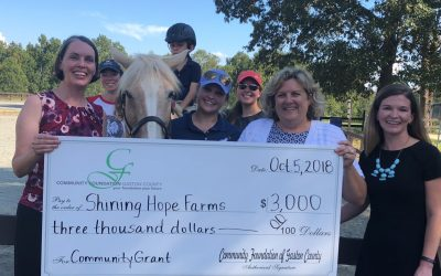 Shining Hope Farms Receives Grant from Community Foundation for Tack Room & Office Improvements